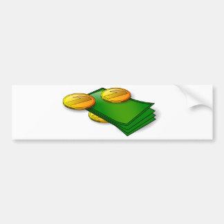 Autocollant De Voiture Argent et pièces de monnaie