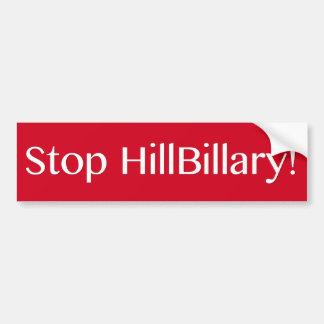 Autocollant De Voiture Arrêtez HillBillary