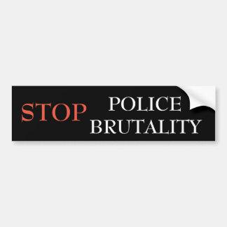 Autocollant De Voiture Arrêtez la brutalité de police