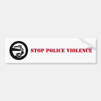 Autocollant De Voiture Arrêtez la violence de police