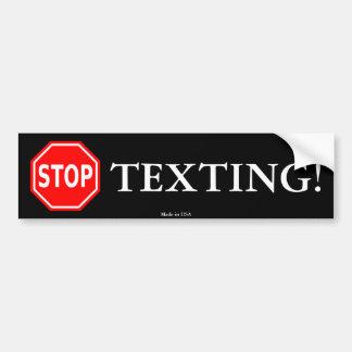 Autocollant De Voiture Arrêtez l'adhésif pour pare-chocs de service de