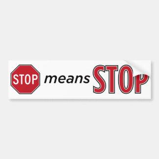 Autocollant De Voiture Arrêtez l'arrêt de moyens