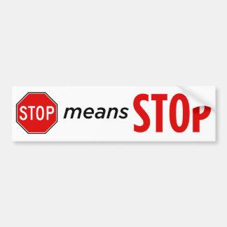 Autocollant De Voiture Arrêtez l'arrêt II de moyens