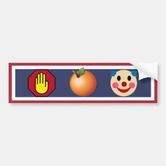 Autocollant De Voiture Arrêtez le clown orange, résistez à l'atout !