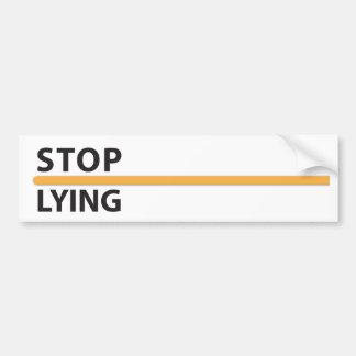Autocollant De Voiture Arrêtez le supplément menteur (sur le blanc)