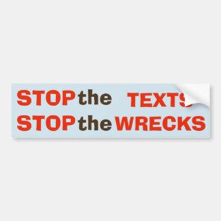 Autocollant De Voiture Arrêtez les textes - arrêtez l'autocollant