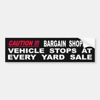 Autocollant De Voiture Arrêts de véhicule à chaque vente de bric-à-brac
