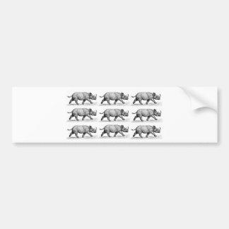 Autocollant De Voiture Art courant de rhinocéros
