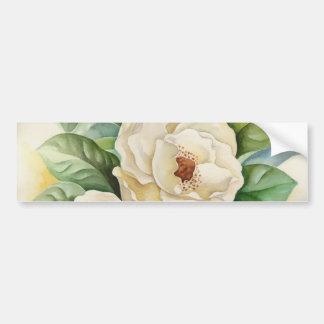 Autocollant De Voiture Art d'aquarelle de fleur de magnolia - multi