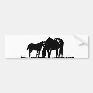 Autocollant De Voiture Art de bruit de chevaux