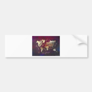 Autocollant De Voiture art de carte du monde