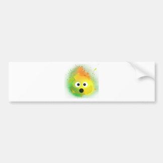 Autocollant De Voiture Art de peinture de jet de jaune de dunette d'Emoji