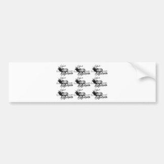 Autocollant De Voiture art de troupeau d'élans ouais