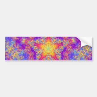 Autocollant De Voiture Art lumineux de kaléidoscope de remous de couleur