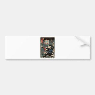 Autocollant De Voiture Art vintage classique d'Ukiyo-e Kyudo Archer
