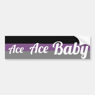 Autocollant De Voiture As, adhésif pour pare-chocs asexuel de bébé d'as