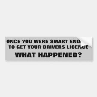 Autocollant De Voiture Assez Smart pour conduire ce qui s'est produit ?