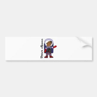 Autocollant De Voiture Astronaute drôle de loutre de mer dans la bande