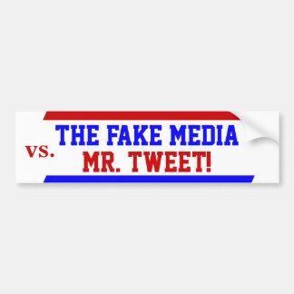 Autocollant De Voiture Atout comme M. Tweet contre le faux adhésif pour