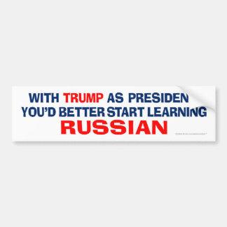 Autocollant De Voiture Atout comme président - apprenez le russe