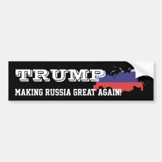 """Autocollant De Voiture """"Atout. Rendant la Russie grande encore ! """""""