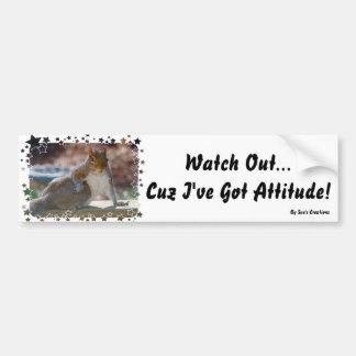Autocollant De Voiture Attitude obtenue ! Écureuil