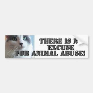 Autocollant De Voiture Aucun abus animal Kitty triste