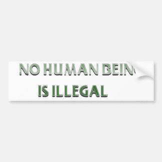 Autocollant De Voiture Aucun être humain n'est illégal