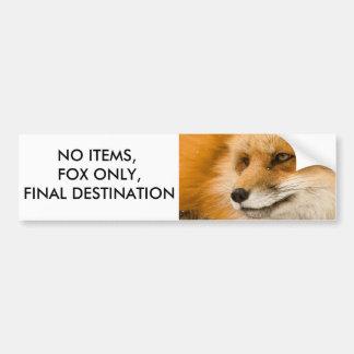 Autocollant De Voiture Aucuns articles, Fox seulement, destination