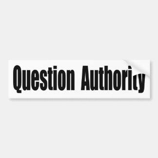 Autocollant De Voiture Autorité de question