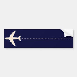 Autocollant De Voiture avion de voyage avec la ligne pointillée