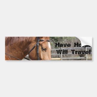 Autocollant De Voiture Ayez le cheval voyagera