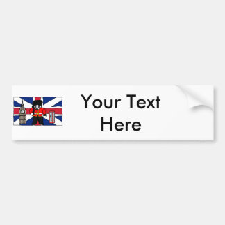 Autocollant De Voiture Bande dessinée britannique de cabine de téléphone