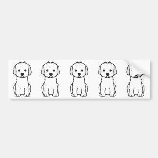 Autocollant De Voiture Bande dessinée de chien de Cockapoo