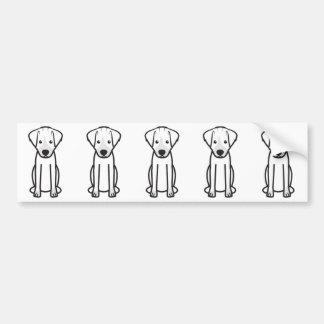 Autocollant De Voiture Bande dessinée de chien de Jack Russell Terrier