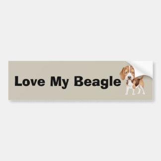 Autocollant De Voiture Bande dessinée de chiot de beagle