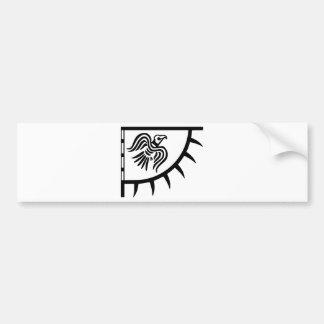 Autocollant De Voiture Bannière noire de Viking Raven