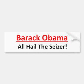 Autocollant De Voiture Barack Obama est un vouloir d'être empereur