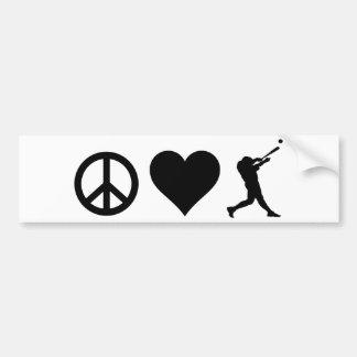 Autocollant De Voiture Base-ball d'amour de paix