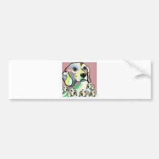 Autocollant De Voiture Beagle et palette de couleurs molle de bébés