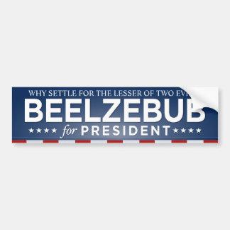 Autocollant De Voiture Beelzebub pour le Président adhésif pour