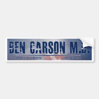 Autocollant De Voiture Ben Carson M.D. pour le président