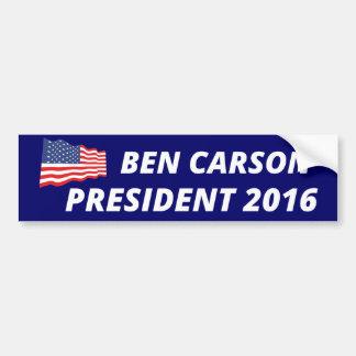 Autocollant De Voiture Ben Carson pour le président