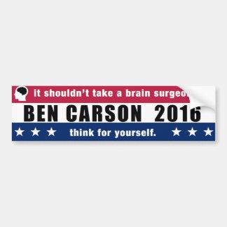 Autocollant De Voiture Ben Carson pour le président 2016 pensent pour
