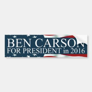 Autocollant De Voiture Ben Carson pour le président en 2016