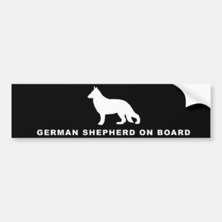 Autocollant De Voiture berger allemand à bord