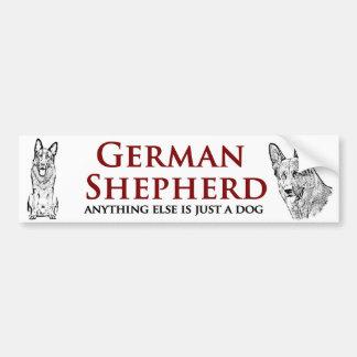Autocollant De Voiture Berger allemand - adhésif pour pare-chocs