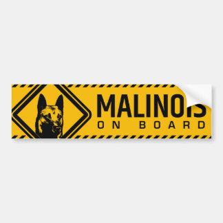 Autocollant De Voiture Berger belge - adhésif pour pare-chocs de Malinois