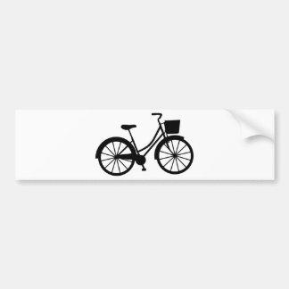 Autocollant De Voiture Bicyclette avec le panier