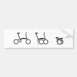 Autocollant De Voiture Bicyclette se pliante de vélo de Brompton